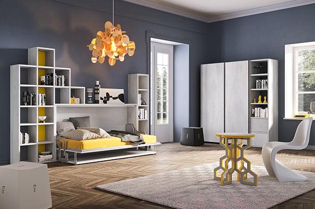 Lit armoire horizontal 120×200