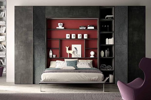 Lit armoire vertical 160×200