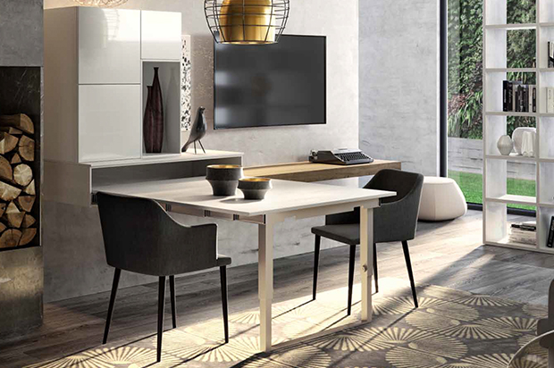 Table extensible escamotable