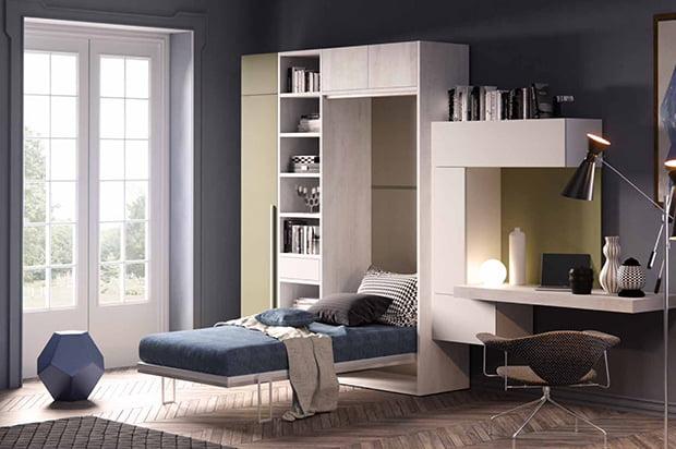 Lit armoire vertical 90×200